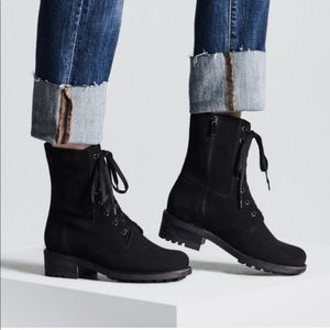 La CANADIENNE Water Proof Suede Lace Up Boots